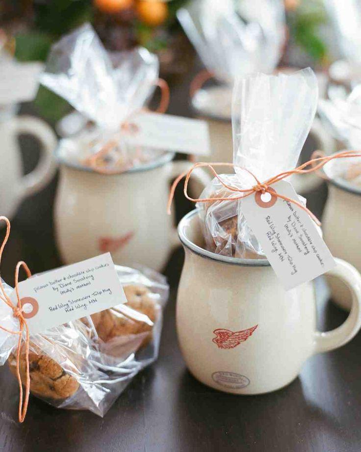 Bögre Süteménnyel Téli Esküvői Köszönetajándék Wedding Guest Giftswinter Favorswedding Gift Bagswedding