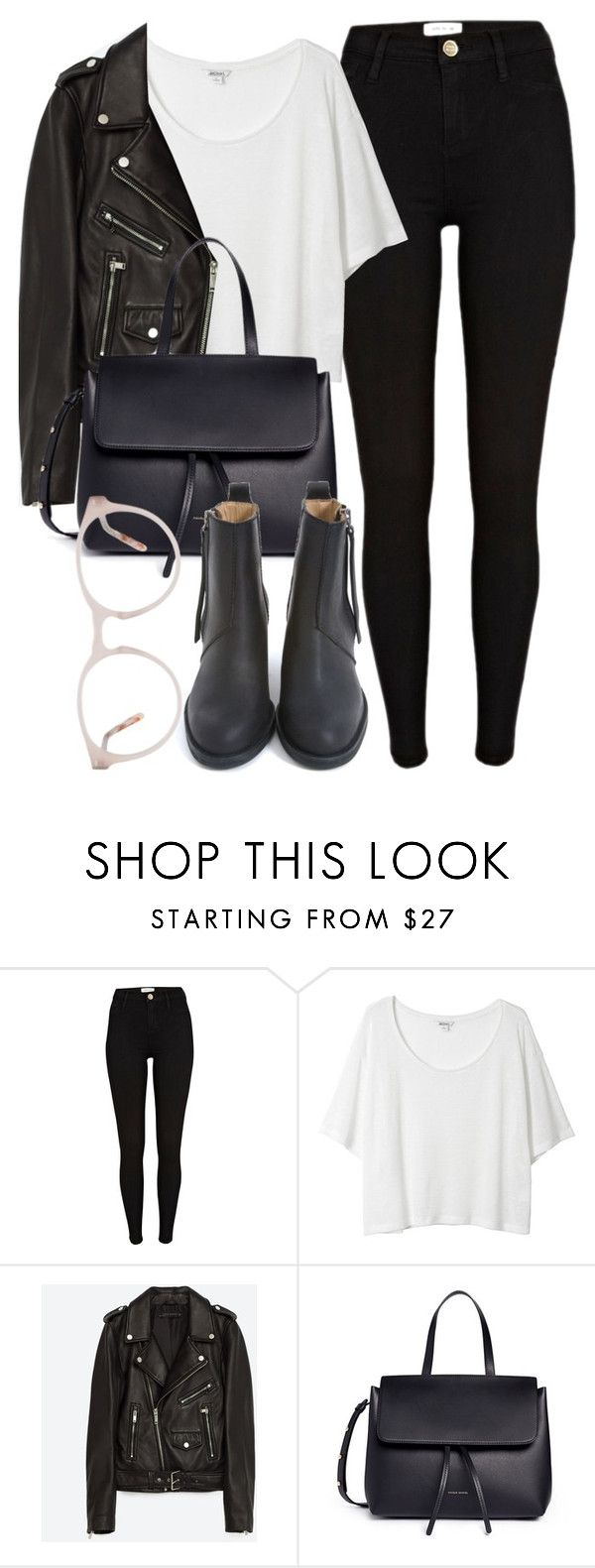 """""""Untitled #6398"""" by laurenmboot ❤ liked on Polyvore featuring River Island, Monki, Jakke, Mansur Gavriel and Acne Studios"""