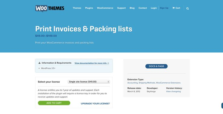 Wordpress #WooCommerce #Print #Invoices & #Packing #lists url: http://www.woothemes.com/products/print-invoices-packing-lists/