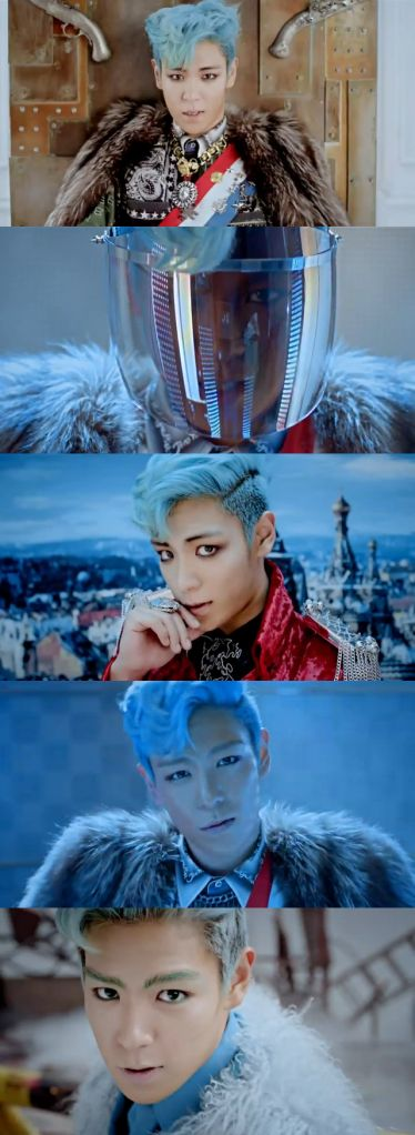 Fantastic Baby: T.O.P. His blue hair will forever be on point