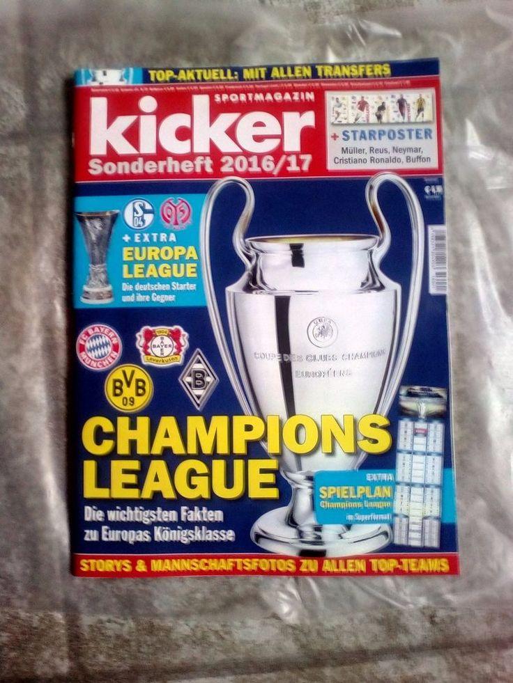 Kicker!SONDERHEFT!Sportmagazin!CHAMPIONS LEAGUE 2016/17