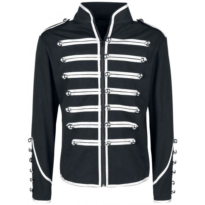 Men Military Parade Marching Jacket Gothic Steampunk Army