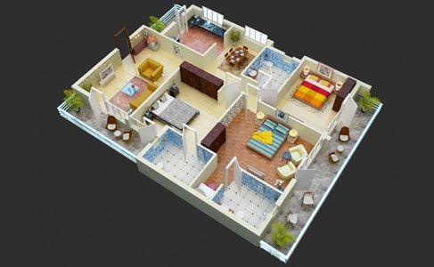 Call 91 9278718181 dial extn 3 floor plan 2bhk for Floor 5 swordburst 2
