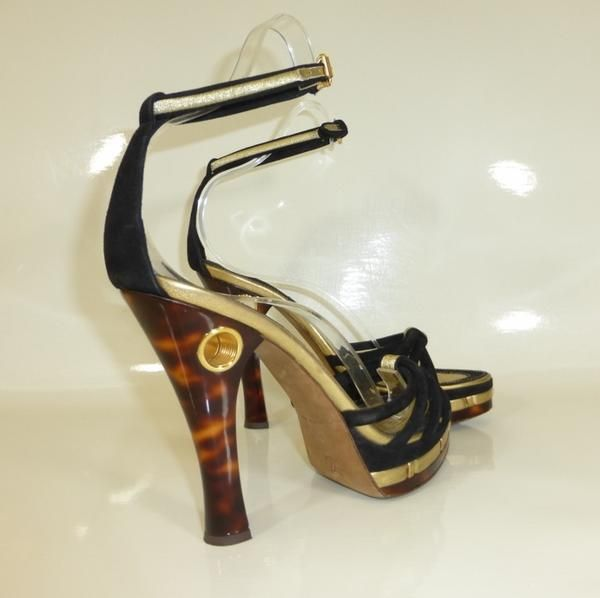 louis vuitton black suede heels size 39 6