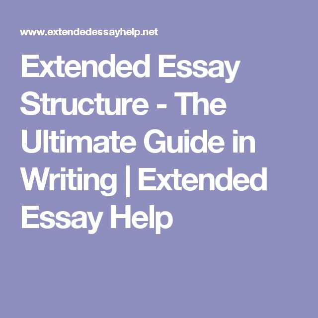 Help write an essay structure