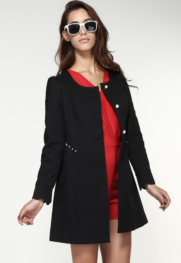 25+ best ideas about manteau noir on pinterest | manteaux noirs ... - Veste De Cuisine Noir Pas Cher