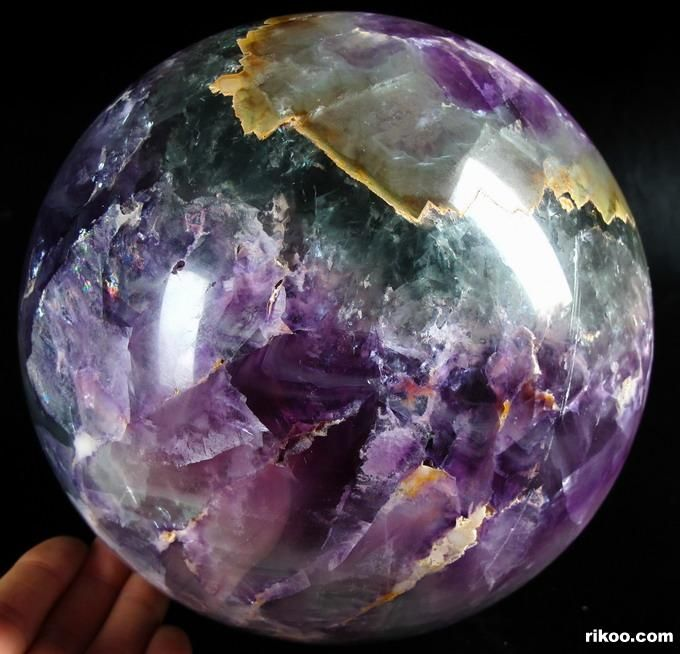 "6.5"" Fluorite Sphere, Crystal Ball"