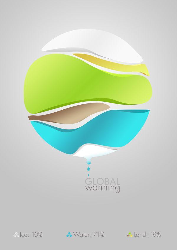 Global warming infographic mock-up | Designer: Josh Overton