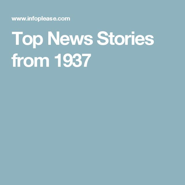 Top News Stories from 1937