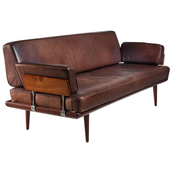 Cheap Sectional Sofas Peter Hvidt u Orla M lgaard Nielsen Sofa with Brown Leather Cushions Denmark