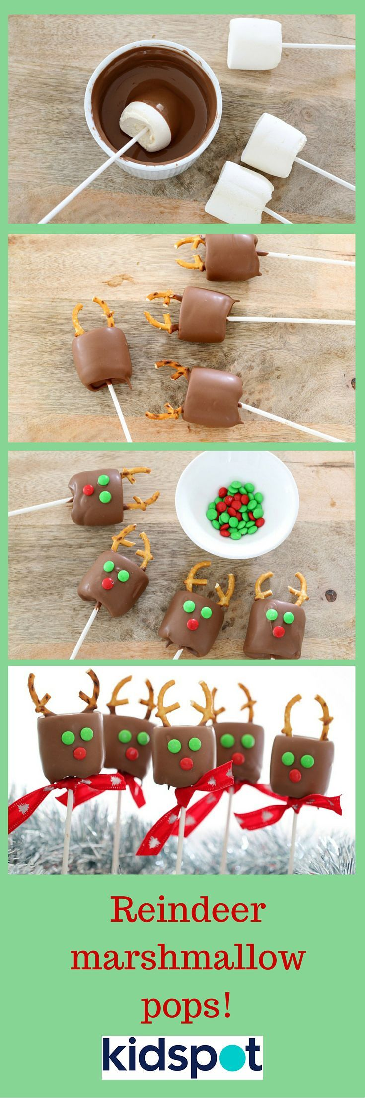SO MANY RUDOLPHS! Would your kids love these easy Reindeer Marshmallow Pops?                                                                                                                                                                                 More