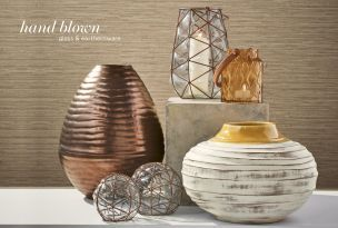 Latest Trends love the contrast between the metallics and yellow tones #FashionYourHome