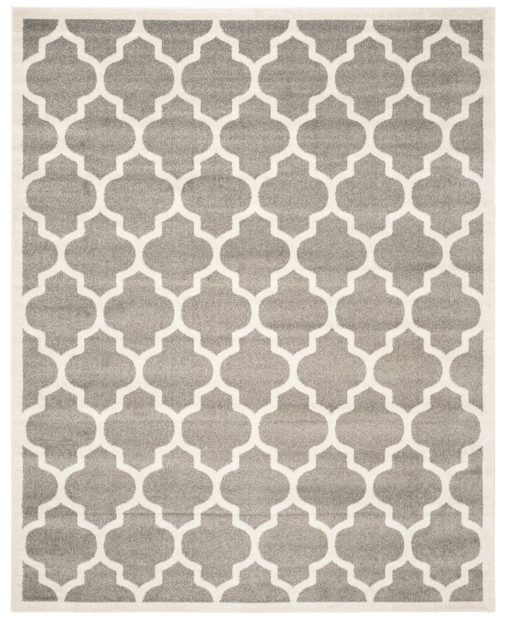 Safavieh Amherst Indoor Outdoor AMT420R Dark Grey Beige Area Rugs