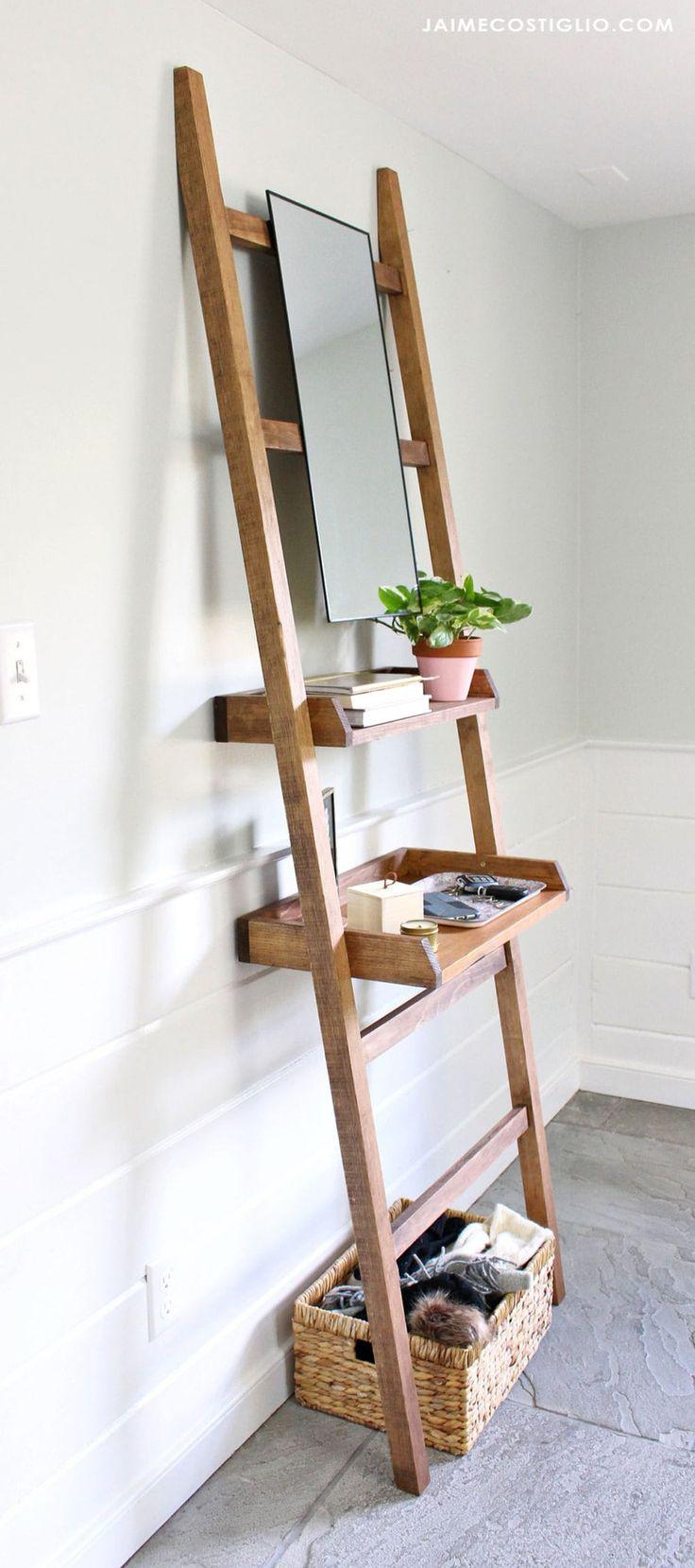 DIY Leaning Shelf for Entry or Vanity   Leaning shelf ...