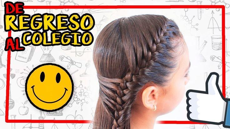 Peinado con trenza con diadema doble | Peinados para el colegio | french braid headband