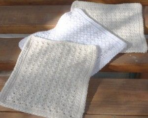 3 different sc patterns for washcloths