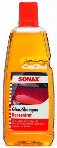 Sonax Gloss Shampoo (33.8 oz) by Sonax. $15.95. SONAX Gloss Shampoo Concentrate is a highly effective, phosphate free formula that penetrates and loosens tough dirt without damaging or stripping the protective layer. The special anionic surfactants within, adhere to dirt particles and act as emulsifiers absorbing and dissolving oil droplets. SONAX Gloss Shampoo Concentrate is safe for all finishes and leaves a brilliant, clean shine to your paint surface every time!