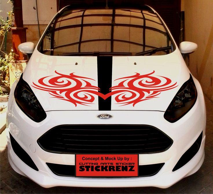 Car Custom Hood Cutting Sticker Concept - Fiesta 002