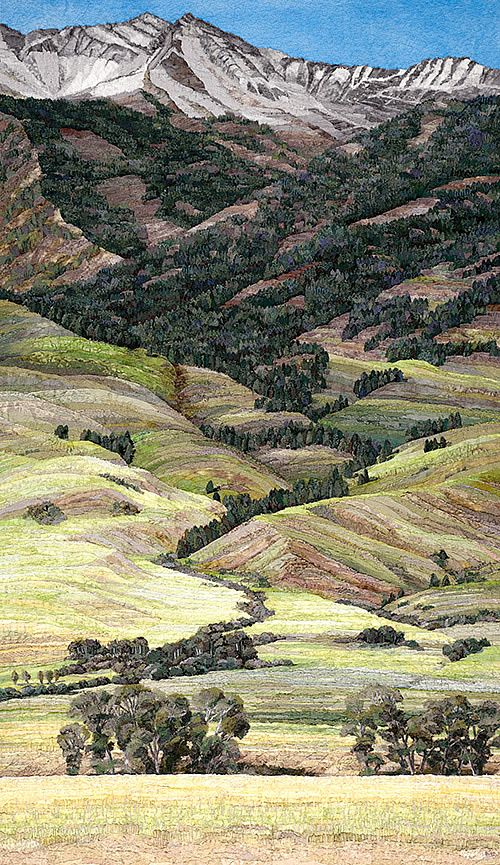 Madison Range - Sewn art of Merle Axelrad Artist working in fabric and textiles