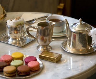 tea and macarons