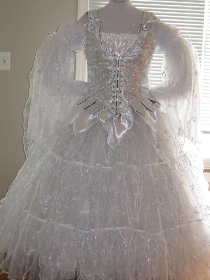 DDNJ Choose Color 5pc Crystal Fairy Queen Fantasy Renaissance Larp Anime Wedding Custom Made Your Measurements. $475.00, via Etsy.