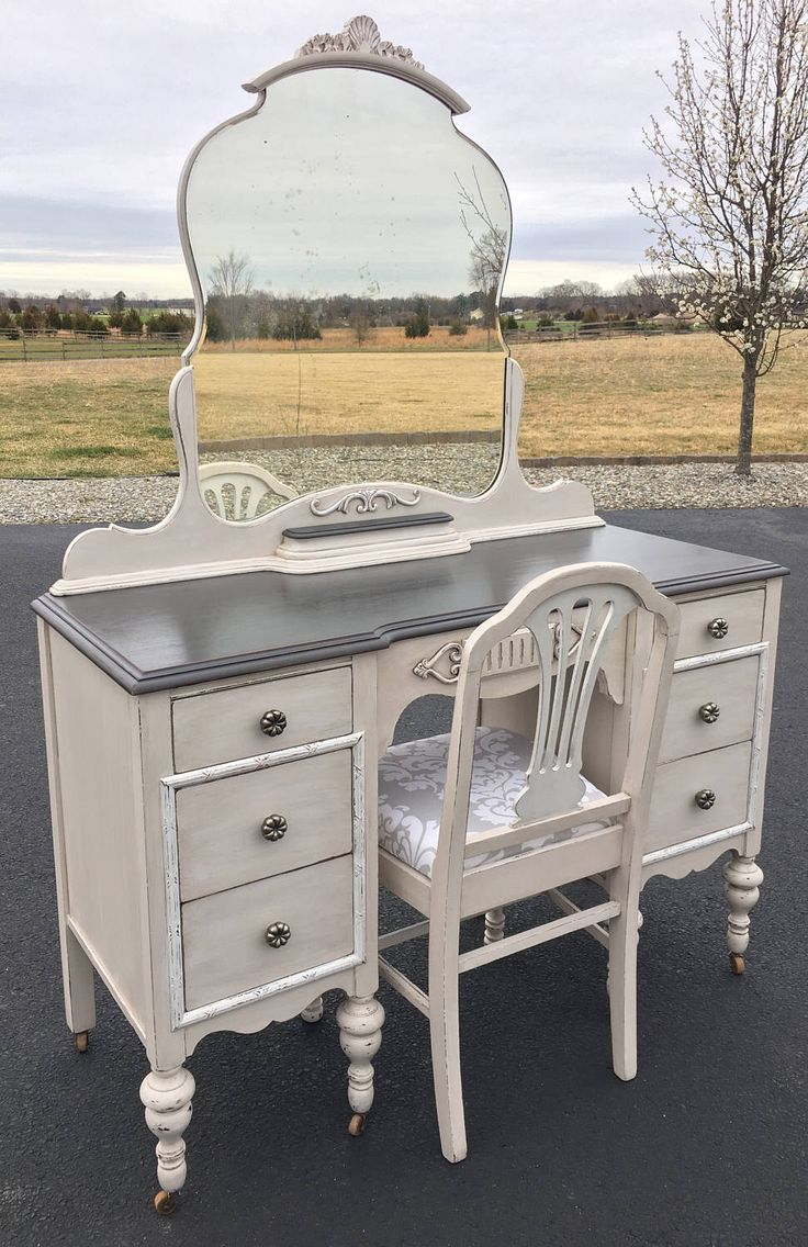 A personal favorite from my Etsy shop https://www.etsy.com/listing/508091514/stunning-antique-makeup-vanity-with