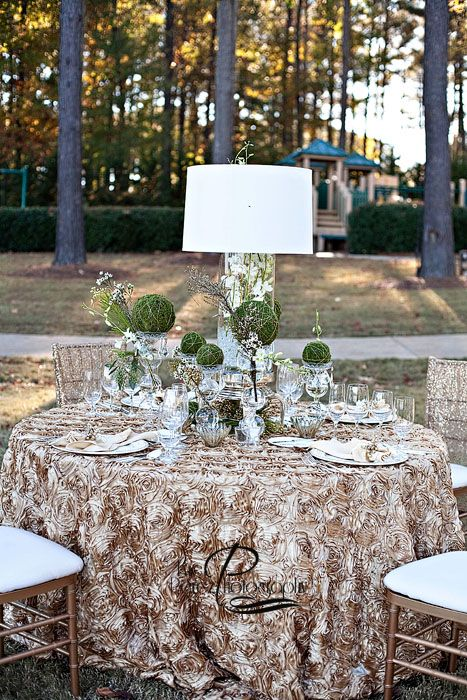 DESIGNS BY KENT   LAMP SHADE CENTERPIECES FOR WEDDINGS RITZ CARLTON REYNOLDS PLANTATION
