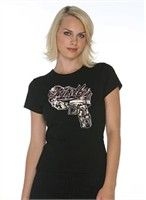 """Hustler """"Piece"""" Girls Baby Doll T-Shirt - Women's Apparel Deals"""