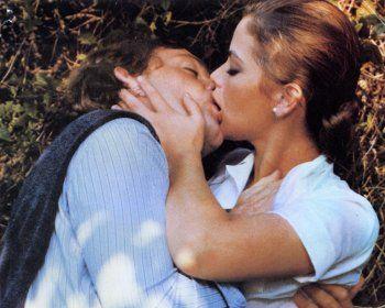 Patrick Dewaere and Ornella Muti in La stanza del vescovo directed by Dino Risi, 1977