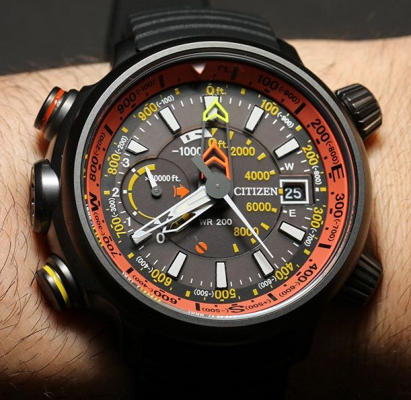 Citizen Altichron Analog Altimeter Compass Watch Hands-On | aBlogtoWatch Good.