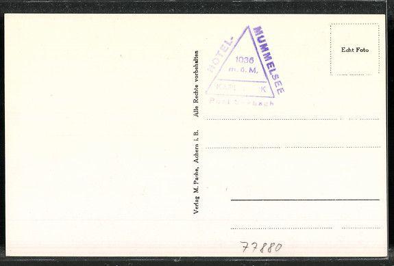 Alte Ansichtskarte: Rückseite: AK Hornisgrinde, Gesamtansicht