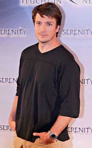 Nathan Fillion promoting the movie Serenity.