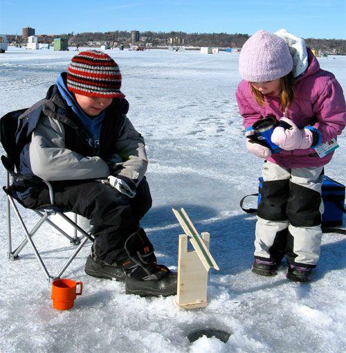 Ice Fishing on Lake Simcoe #VisitBarrie