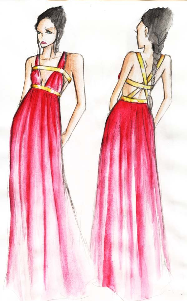ancient greek clothing like without the first gold line on the top - Clothing Design Ideas