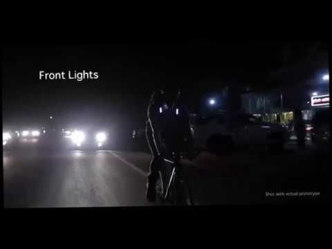 GIGadgets - Worlds safest cycling backpack, with Integrated bike lights,...