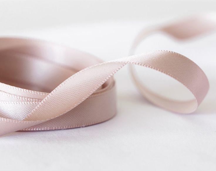 2056_10_Silk ribbon 10 mm, Blush pink ribbon, Ribbon silk, Double faced ribbon, Satin ribbon, Ribbon double side, Silk ribbon, Satin band. by PurrrMurrr on Etsy