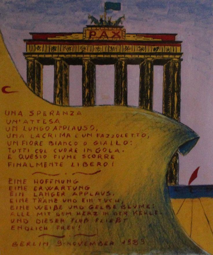 """""""Berlino 9 novembre 1989"""" opera di Fulvio Pinna."""
