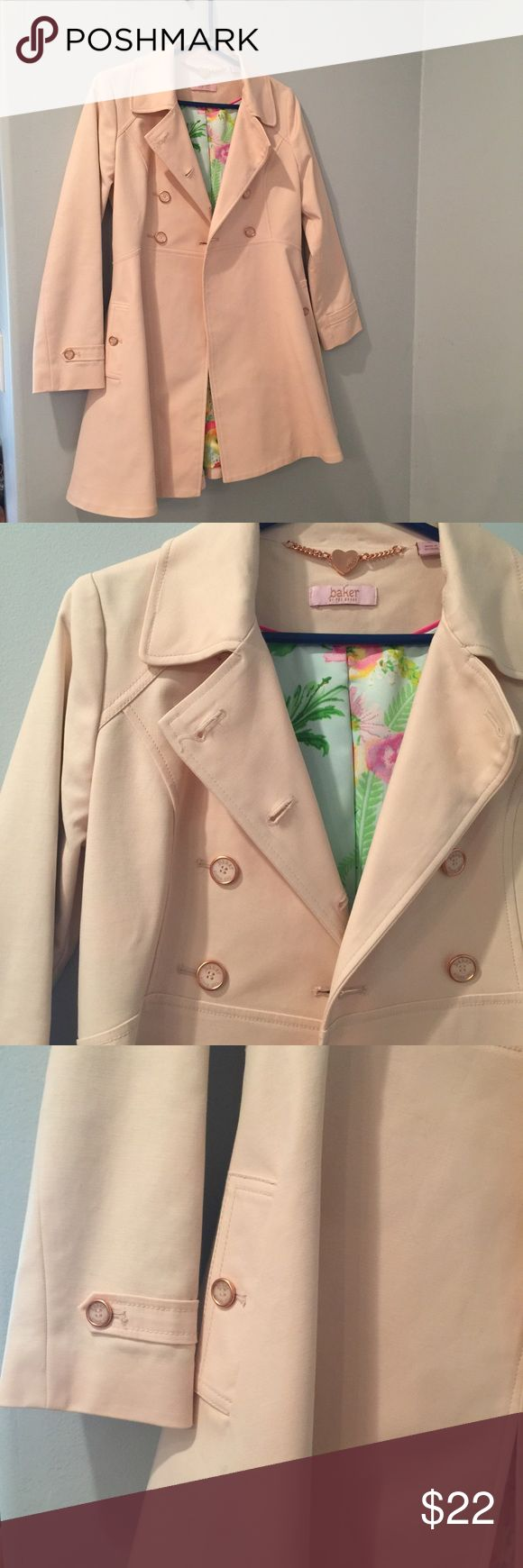 Ted Baker girls trench 💖 PERFECT CONDITION! WORN ONCE! So cute! Girls XL but also fits women S! Baker by Ted Baker Jackets & Coats Trench Coats