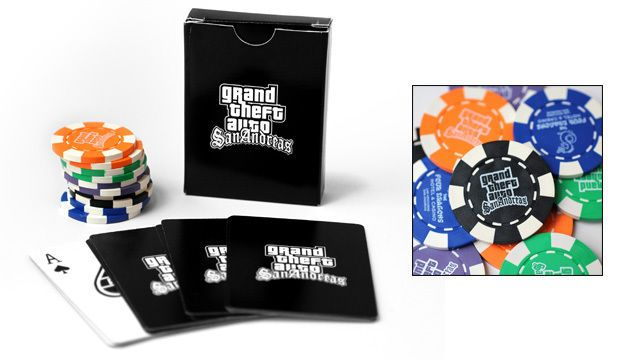 Grand Theft Auto San Andreas GTA Playing Cards Deck AND POKER CHIPS SET SEALED #ROCKSTARGAMES