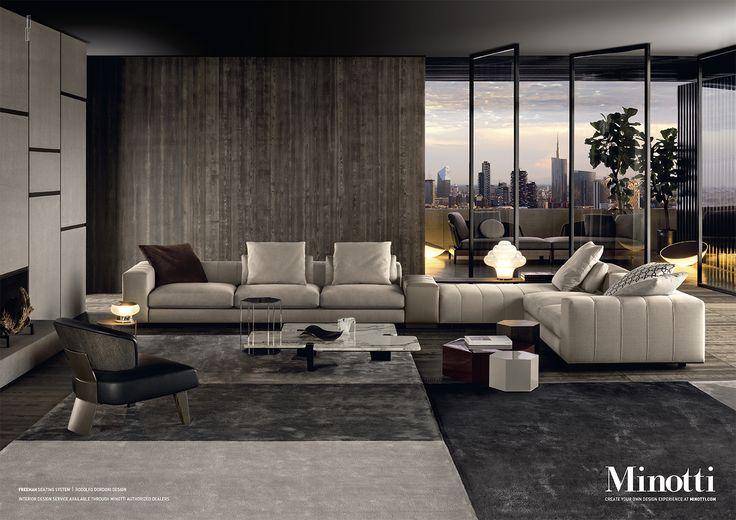 Agatha O l Freeman seating system, Rodolfo Dordoni Design #adv #freeman #sofa…