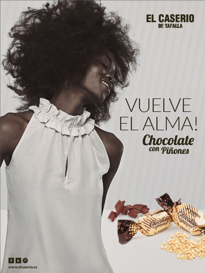 CARTEL para el nuevo caramelo de Chocolate con Piñones de El Caserío