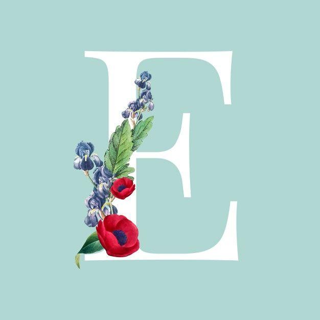 Download Letter E For Free Lettering Flower Background Iphone Lettering Alphabet