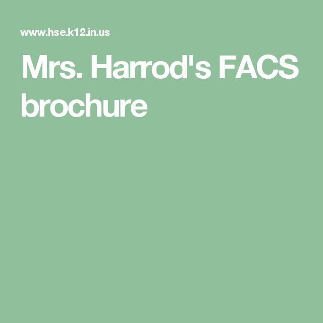 Mrs. Harrod's FACS brochure
