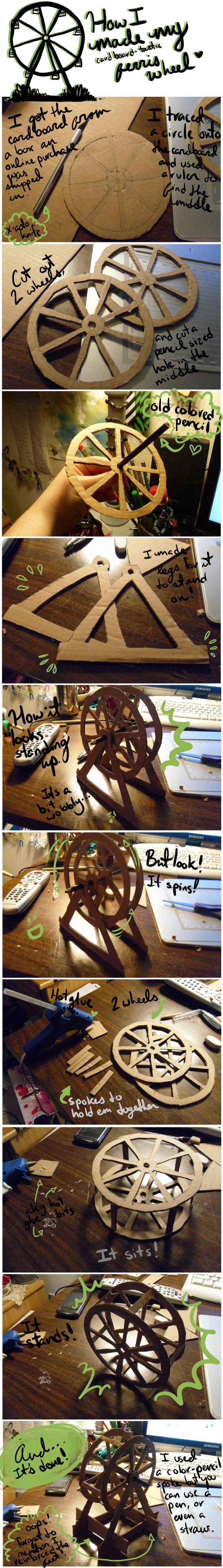 Cardboard Ferris Wheel by CrimsonPearls.deviantart.com on @DeviantArt