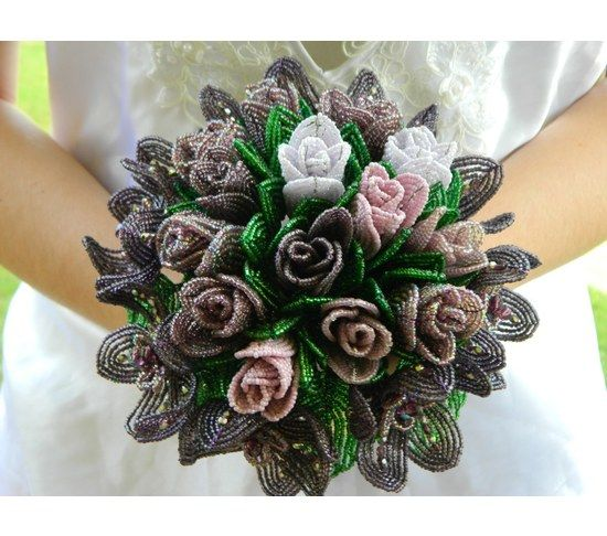 French Beaded Flowers tutorial for beginners - Google Search