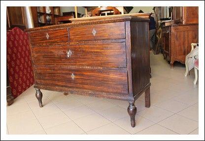 Comò cassettone primi 800 laccato dipinto finto legno Romagnolo ! canterano antico