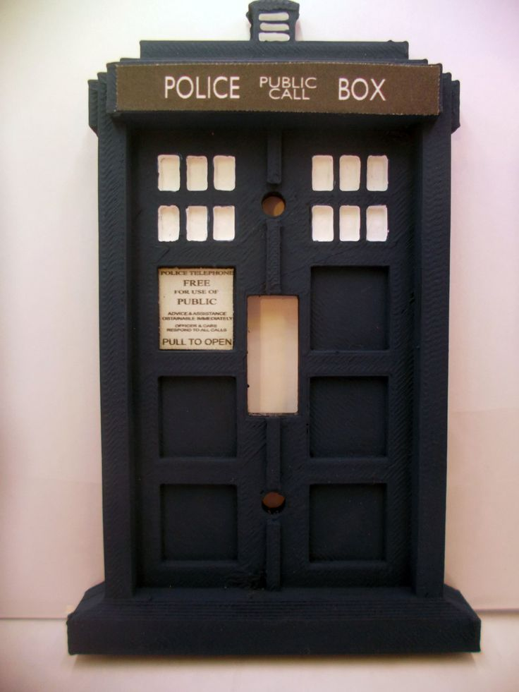 3d doctor who tardis light switch plate 3d police box