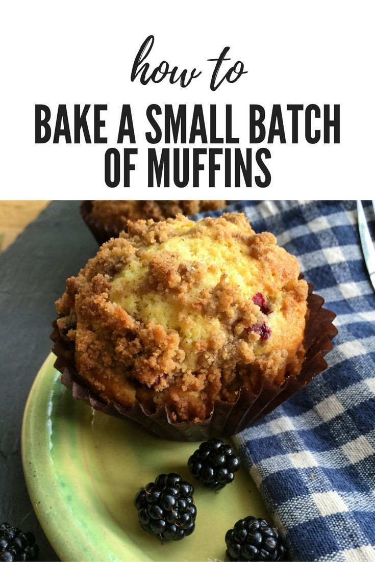 How to bake a small batch of muffins. With your dry muffin mix and frozen streusel topping it's quick and easy to whip up a small batch of muffins