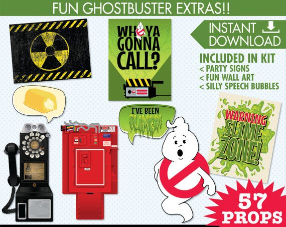 Ghostbusters Photo Booth Props Ghostbuster by SimplyEverydayMe