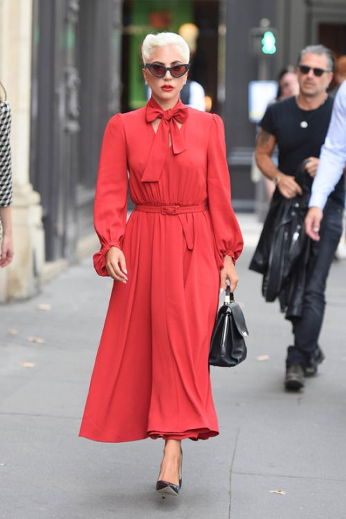 Lady Gaga in Paris, France : Gaga kept things old-school with a